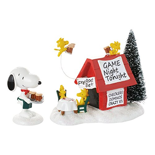 (Department 56 Peanuts Village Snoopy's Game Night Lit House, 3.11 inch)