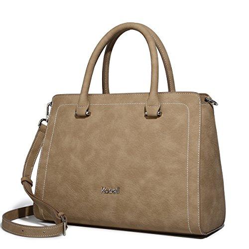 delle borse di borsa marrone borsa donne totalizzatore leggere delle della progettista Grigio della tracolla a Kadell delle signore del Borse nO8HA8X