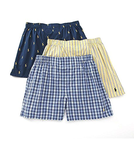 Polo Ralph Lauren Classic Woven Boxer 3-Pack Large by Polo Ralph Lauren