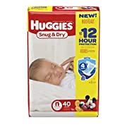 HUGGIES Snug & Dry Diapers, Size Newborn, 40 Count (Packaging May Vary)