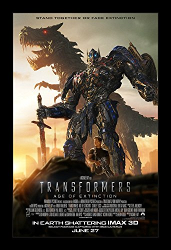 Extinction Movie Poster (Transformers Age of Extinction - 11x17 Framed Movie Poster by Wallspace)