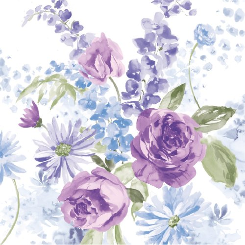 Lilac Tableware (16-Count Paper Lunch Napkins, Lilac Blossoms Happy Easter)