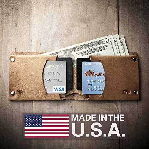 Mens Leather Wallet - Traditional (Made in USA by Mr. Lentz) 015 ()