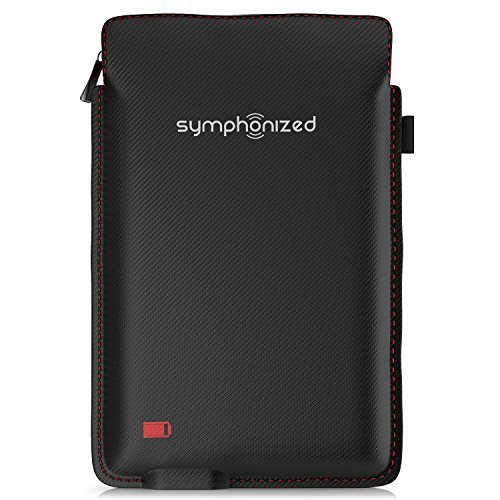 Symphonized USB Charging Case for Bluetooth Earbuds, Portable Battery Charger, Rechargeable Protective Carrying Case, Charge Holder for Headphones & Small Accessories,Travel Sport Pouch