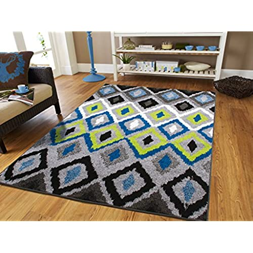 Wonderful Luxury Panal And Diamonds Area Rug 5x7 Rugs For Living Room Under 50 Rug  5x8 Clearance Under 50 Blue Black Cream Grey Green Area Rugs Modern  Abstract Office ...