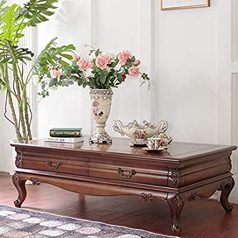 Amazon Com Rustic Coffee Table Combination Of Simple Solid Wood