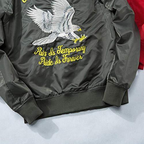 QSCG Bombardero De Los Hombres Chaqueta De Vuelo Bordado ...
