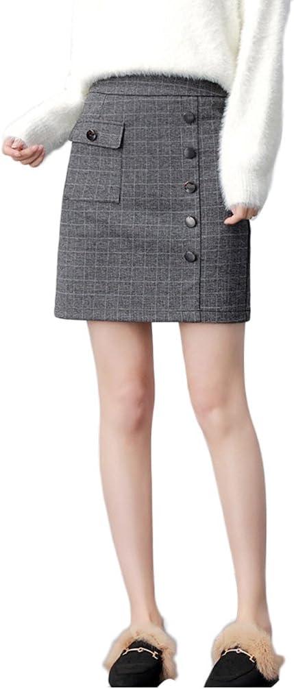 LINSYT Falda lápiz de cintura alta de talle alto con cintura alta ...