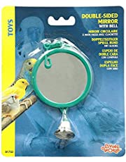 Living World Plastic Mirror with Bell Bird Toy, Assorted Color