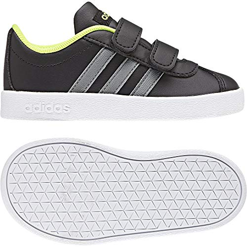 Bébé Adidas gritre Basses 000 Cmf 0 negbas Mixte ftwbla Noir Sneakers 2 Vl Court 84q8Ff