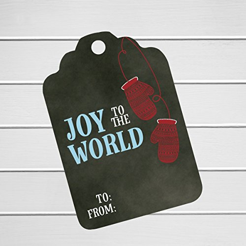 24pk - Joy to the World Christmas Holiday Gift Tags (ST-579-T04) Spice Girls Christmas Card
