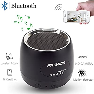 Pelay HD 1080P Wifi Hidden Camera Bluetooth Speakers Wireless Mini Spy Camera -Music Player-Motion Detector Nanny Camera by Shenzhen Zhongli Dingtai Technology Co.,Ltd