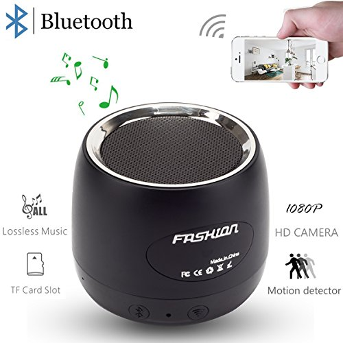 Pelay HD 1080P Wifi Hidden Camera Bluetooth Speakers Wireless Mini Spy Camera -Music Player-Motion Detector Nanny Camera