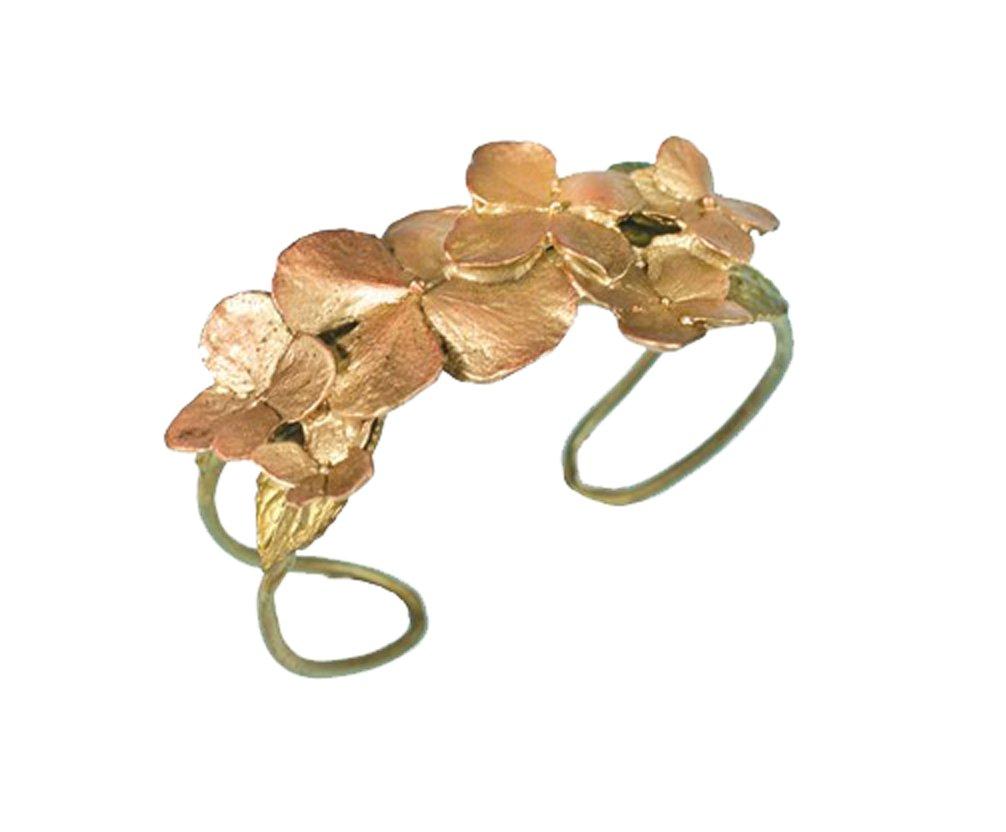 ''Hydrangea'' Flower Cuff/Bracelet by Michael Michaud for Silver Seaasons…