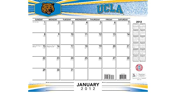 Ucla Calendar.Ucla Bruins 2012 Calendar Not Available 9781436087759 Amazon Com
