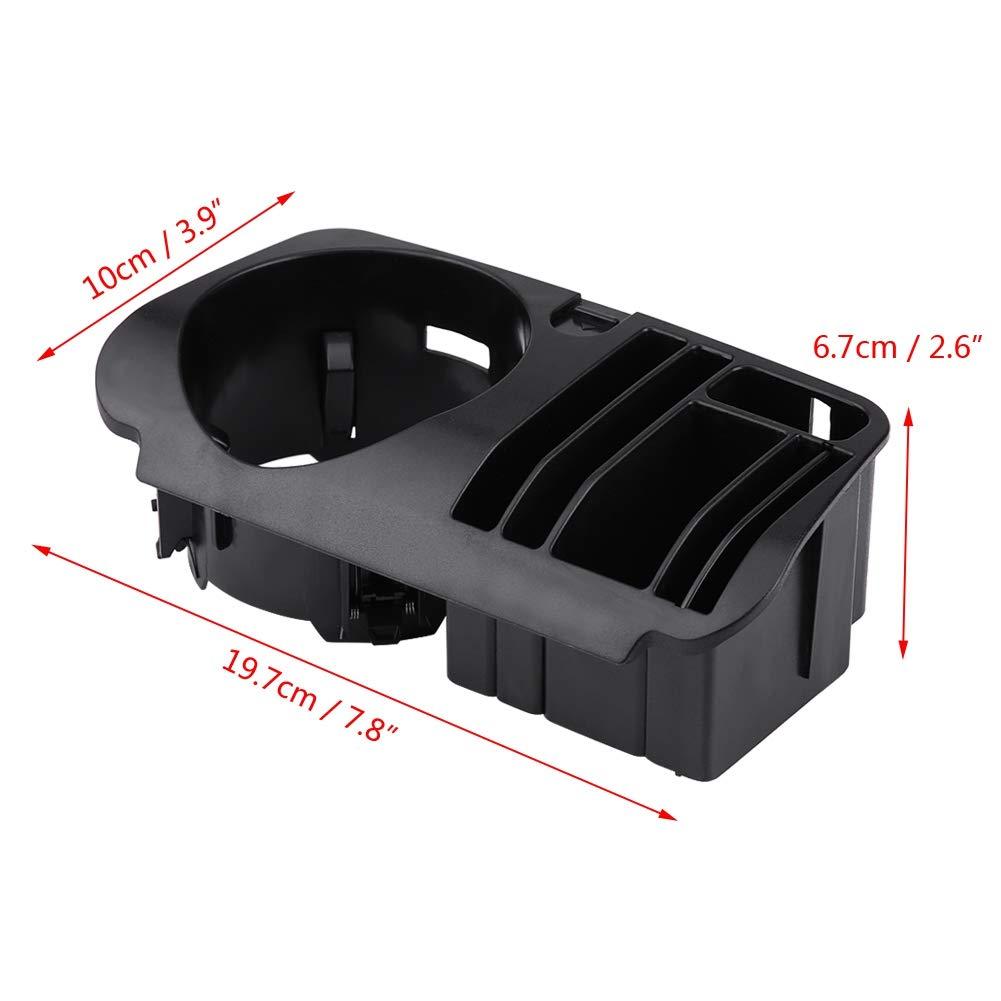 portavasos central de pl/ástico ABS para clase C W205 GLC clase X253 clase E W213 Yctze Portavasos de la caja de almacenamiento central del autom/óvil