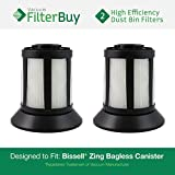 2 - Bissell Dirt Bin Filters. Designed by FilterBuy to replace part # 203-1532 (2031532). Fits Bissell Zing Bagless Canister Vacuum.