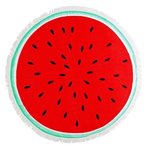 HAPEE Thick Round Beach Towels Watermelon Pineapple Circle Blanket Towels Microfiber