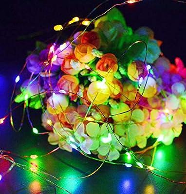Cadena de luz solar Jardín impermeable al aire libre Festival de césped de Navidad Luz solar 2 Función 200LED A: Amazon.es: Iluminación