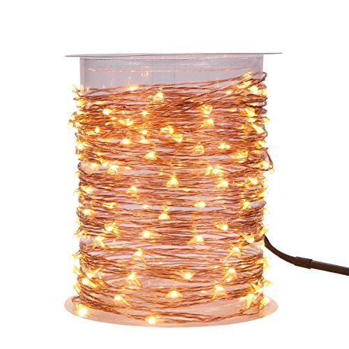 MAGICNIGHT 150 Leds 50FT Led String Starry Light Copper Wire Decorative Fairy Lights Warm White 15M With Remote Controller Set of 1 from Magicnight