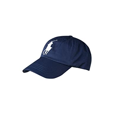 909c13a6b6676 Image Unavailable. Image not available for. Color  RALPH LAUREN Navy Big  Pony Cap ...
