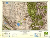 YellowMaps Bakersfield CA topo map, 1:250000 Scale, 1 X 2 Degree, Historical, 1948, Updated 1948, 24 x 31.9 in - Paper