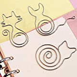 Paper Clips,12 Pieces Stainless Steel Paperclips. Different Cute Animal Shape and Other Creative Shapes Bookmark Clips Page Marker for Office School Supplies and Gift Card