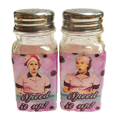 (I Love Lucy Salt & Pepper Shaker Set Chocolate Factory)