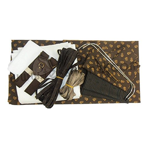 Kit Patchwork zaino con manico, tracolle e doppia chiusura (zip e patella con clic clac)