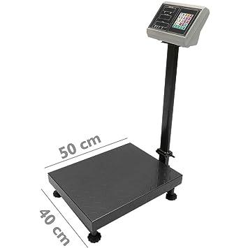 PrimeMatik - Balanza Industrial de Plataforma 40x50 cm báscula 300 Kg: Amazon.es: Electrónica