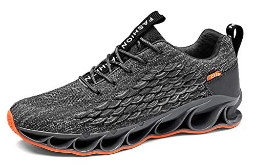 7 Youth Footwear - SKDOIUL Youth Boys Shoes Size 7 for Men Grey Fashion Sneakers Flyknit mesh Breathable Comfort Gym Workout Trail Tennis Shoes (A050-Grey-40)