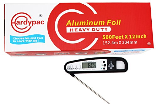 - Hardypac Heavy-Duty Aluminum Foil Roll, 500' Length x 12