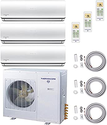 Thermocore Systems Tri-Zone ENERGY STAR Ductless Mini Split Heat Pump Air Conditioner