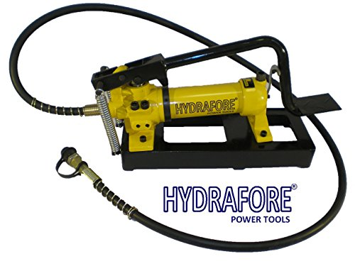 Hydraulic Foot Pump 2 speed Power Pack Hose Coupler (10000 psi - 21 in3) B-800B