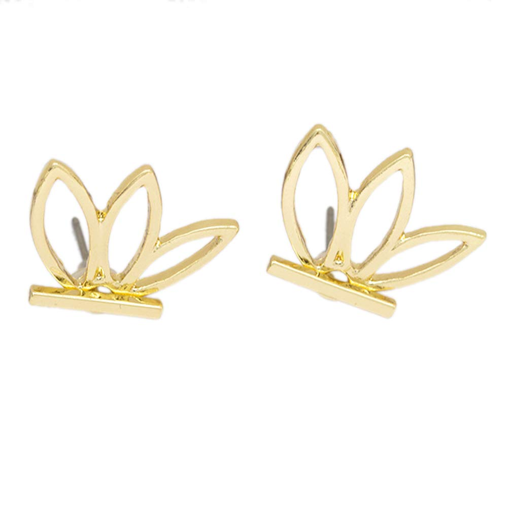 Babasee 1 pairs Lotus Flower Earrings Jewelry Simple Chic Earrings Best Gift for others