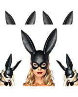 Adorox Sexy Bondage Masquerade Bunny Rabbit Mask Adult Halloween Costume Accessory
