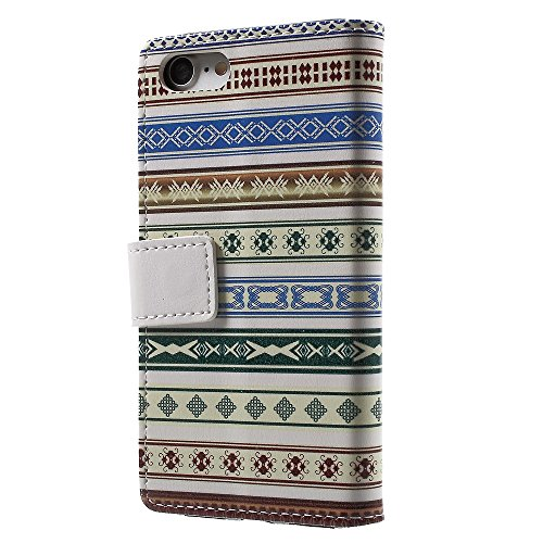Defunct Tribal Pattern Faux Leather Case for iPhone 7 4.7