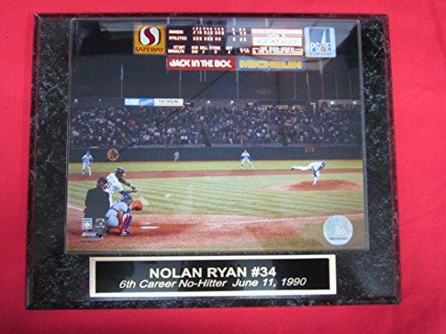 Rangers Nolan Ryan Collector Plaque #1 w/8x10 6th NO HITTER Photo