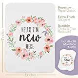 CoCreative Design Baby Girl Floral Wreath Milestone Cards - Pack of 26 Premium Cards