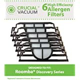 6 Allergen Filters Fit iRobot Discovery Series Robotic Vacuums