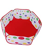 AAJ Kids Ball Pit, Indoor & Outdoor Play Tent Playpen Ball Pit Pool with Red Zippered Storage Bag (Balls not Included)