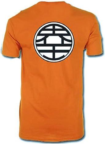 Dragonball Z Dragon Ball Z - Kame para hombre de la camiseta del símbolo - Naranja - S: Amazon.es: Ropa y accesorios