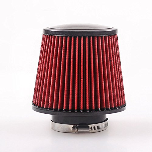 Dealetech 3'' Inch High Flow Car Trunk Racing Cold Air Intake Filter Tapered Cone Cleaner