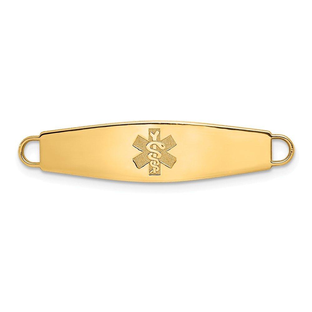Beautiful Yellow gold 14K Yellowgold 14k Nonenameled Medical Jewelry ID Plate
