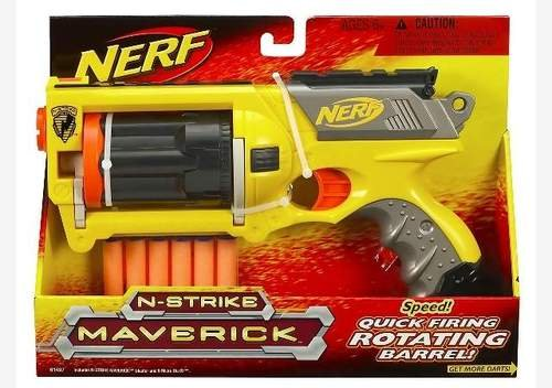 Nerf N-Strike Maverick - Colors May Vary(Discontinued by manufacturer) (Nerf Suction Dart Gun compare prices)