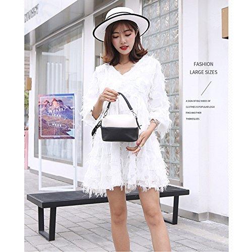 Mujer Yoohy066 Yoome Bolso Para Al Hombro Pink S white Marrón 6W1qWR