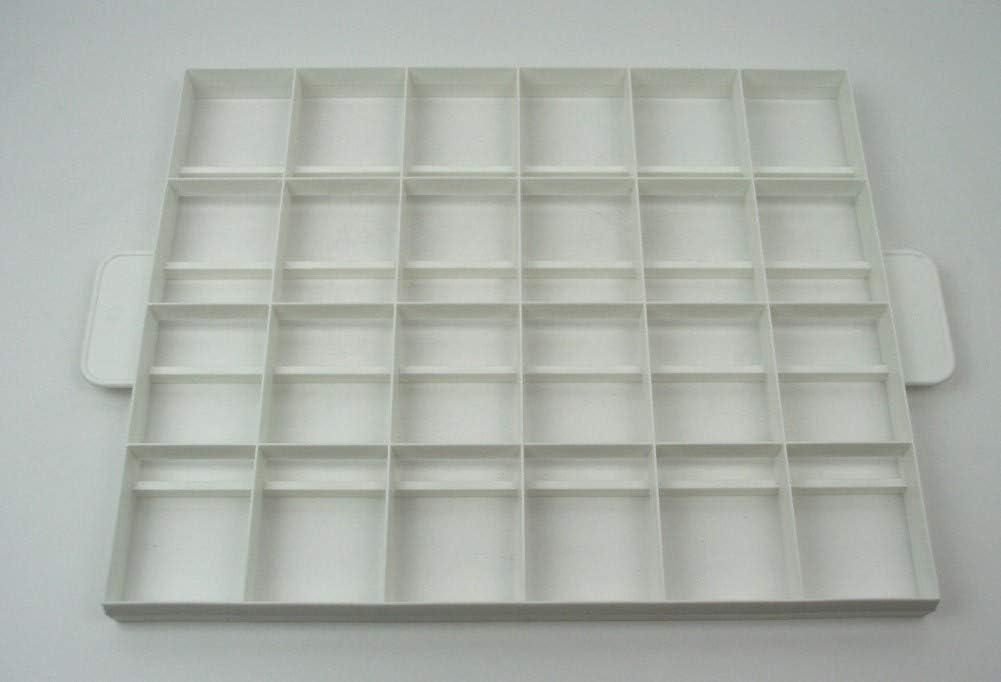 Städter 498044 Pasteles/Tartas Cuadrado Grande de plástico, 24 Piezas 6 x 7,5 cm o de 30 Piezas 6 x 6 cm