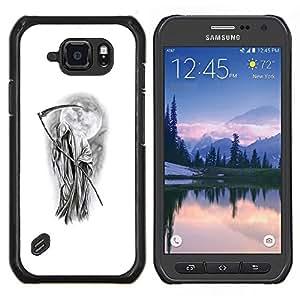 Stuss Case / Funda Carcasa protectora - Metal Rock Blanc Noir - Samsung Galaxy S6Active Active G890A