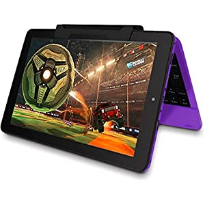 "2016 est Premium High Performance RCA Viking Pro 10.1"" 2-in-1 Touchscreen Laptop Computer Tablet Quad-Core Processor 1G Memory 32GB Hard Drive Detachable-Keyboard Webcam Android 5.0 Lollipop Purple"