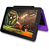 """2016 Newest Premium High Performance RCA Viking Pro 10.1"""" 2-in-1 Touchscreen Laptop Computer Tablet Quad-Core Processor 1G Memory 32GB Hard Drive Detachable-Keyboard Webcam Android 5.0 Lollipop Purple"""